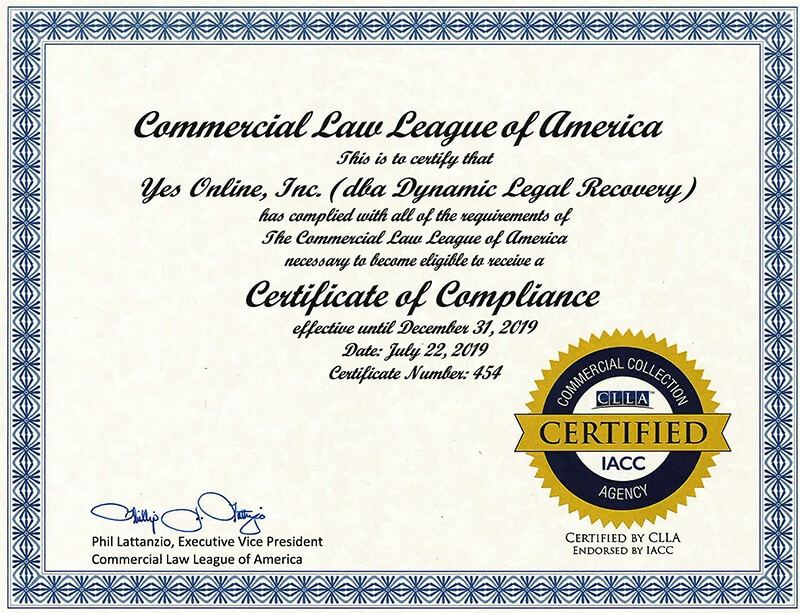 CLLA CERTIFIED